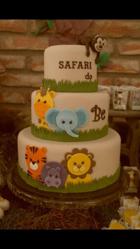 safari baby shower cake idea