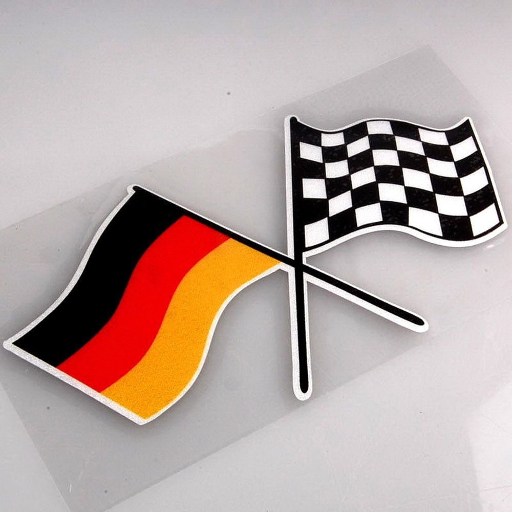 Germany Racing Flag Sticker Decal Emblem For German Car Volkswagen Audi Bmw Car Volkswagen Volkswagen Car Stripes