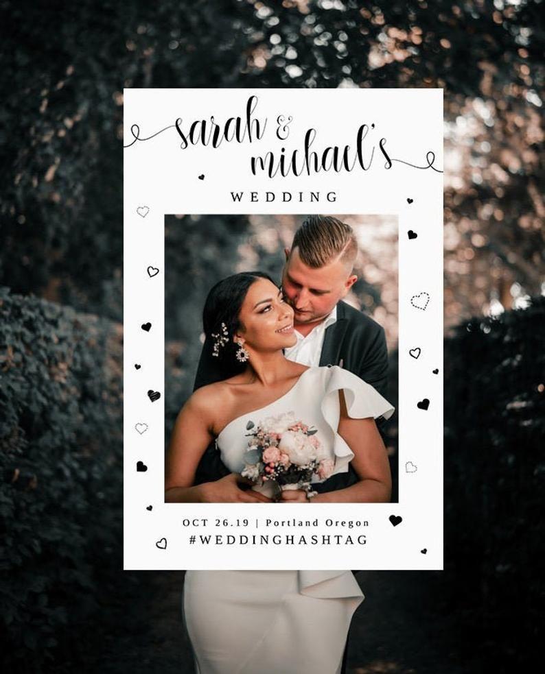 Wedding Selfie Frame Template Editable Photo Booth Frame Rustic Wedding Photo Booth Props Photo Prop Wedding Photo Frame Photo Frame Wedding Photo Booth Props Photo Booth Frame Framed Wedding Photos