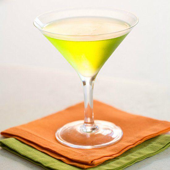 Gin, Dry Vermouth And Melon Liqueur