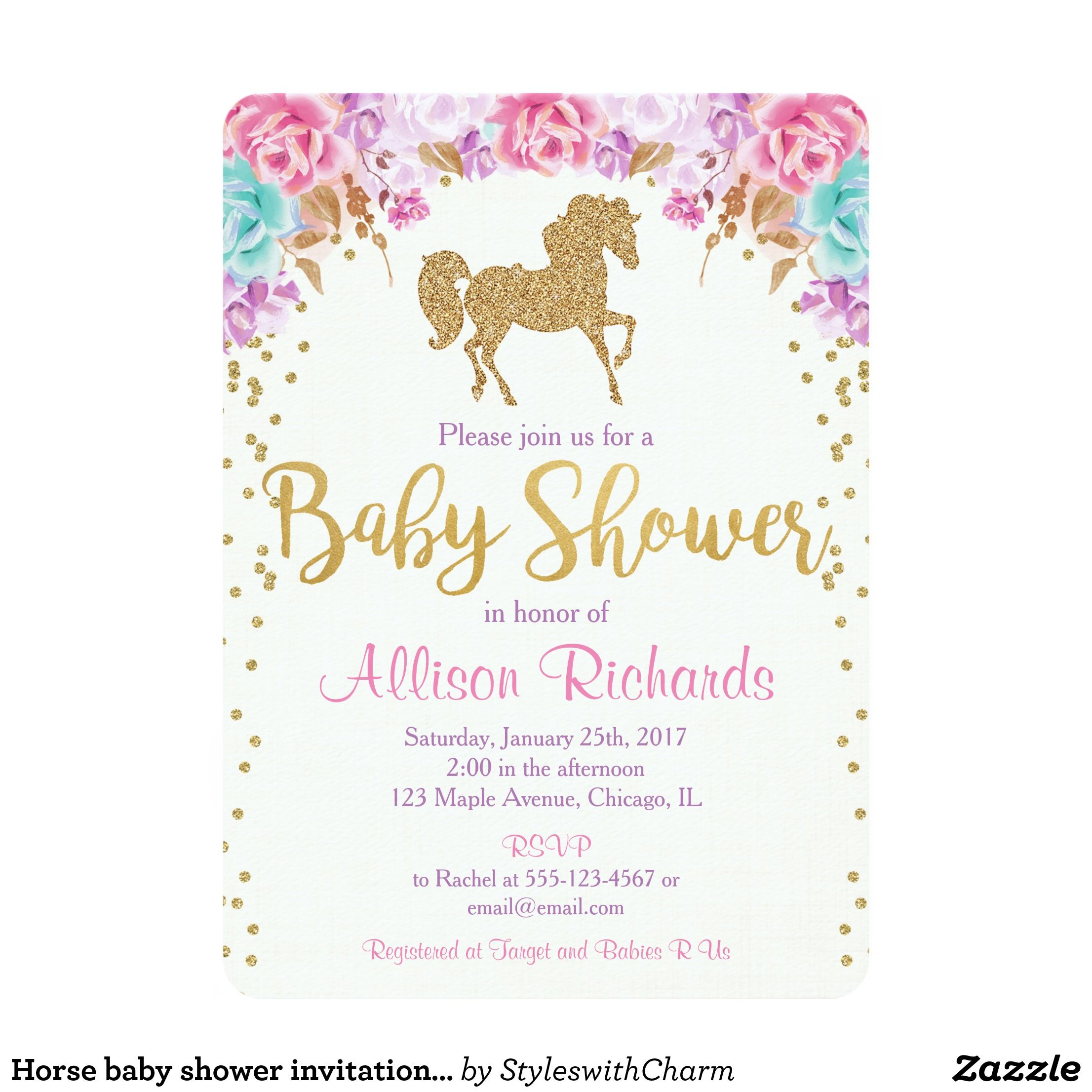 girl shower and see capri dots sip gold hello products watercolor front invitation baby pink invitations