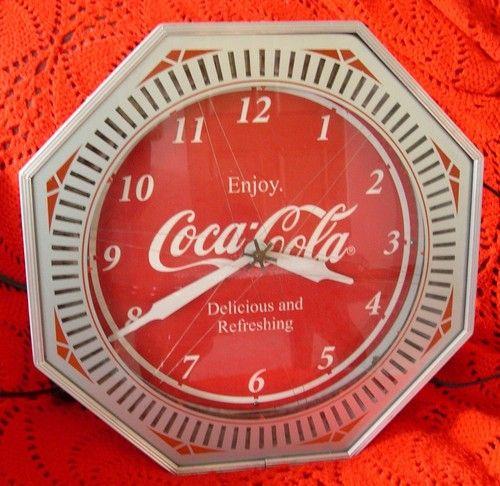 Vintage Coca Cola  Neon Spinner Clock 1940s