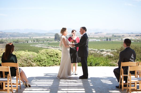 This Eloped At Gloria Ferrer Over Looking The Beautiful Vineyards