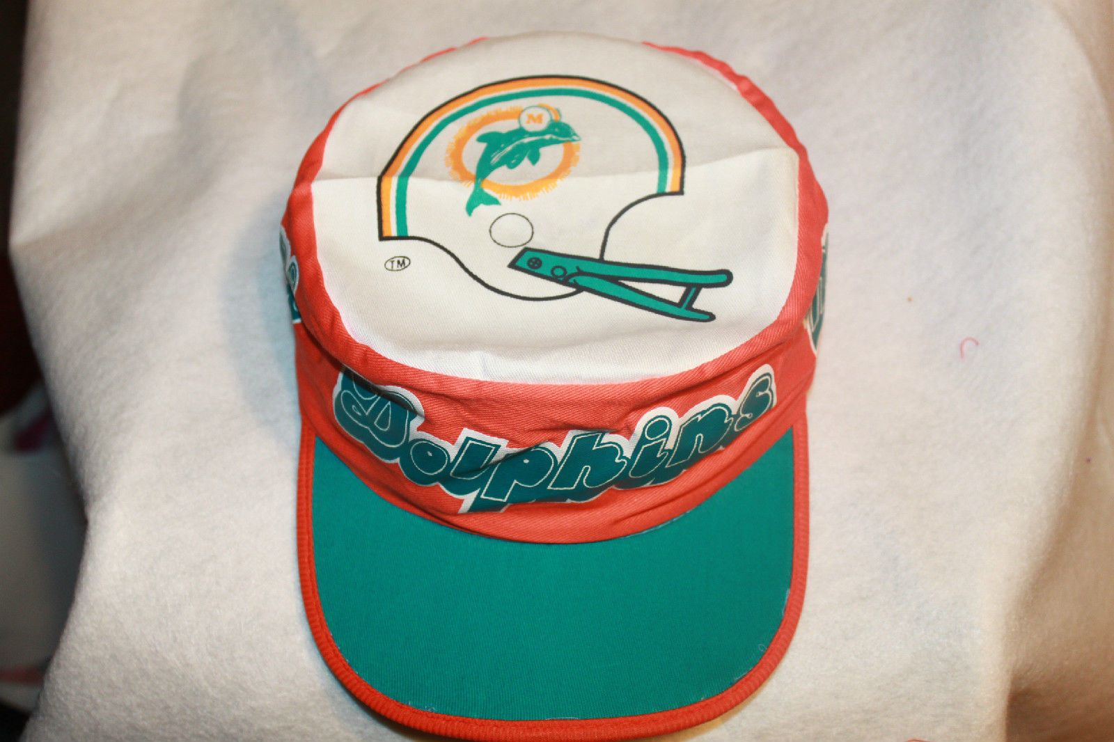 Miami Dolphins NFL Painters Cap Hat Vintage Rare New Old Stock From the 80s  please retweet dd65b0d00ff7