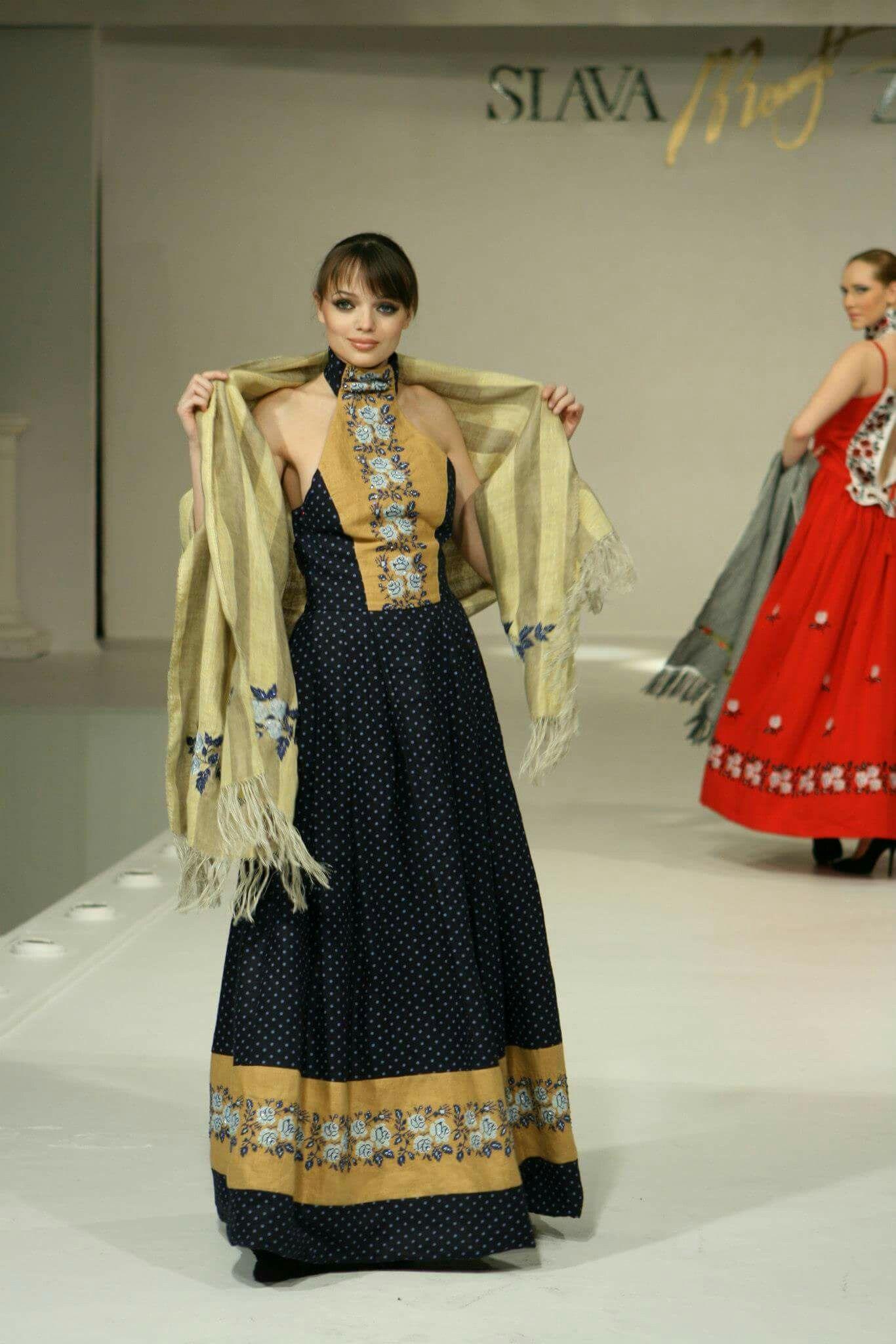 ТМ Синій льон Вышитые платья pinterest designer dresses long