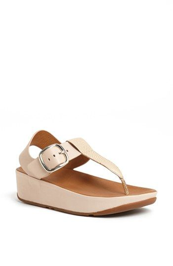 85ac16c21a919 FitFlop  Tia™  Leather Sandal