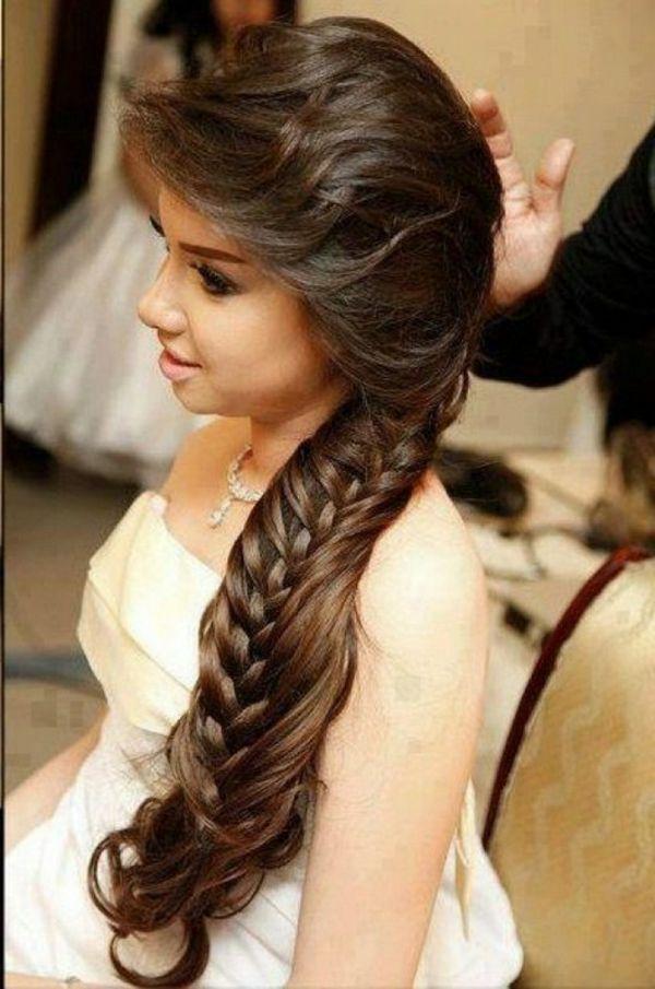 Arabische Hochzeitsfrisuren Lange Braune Haare Wunderschoner Look