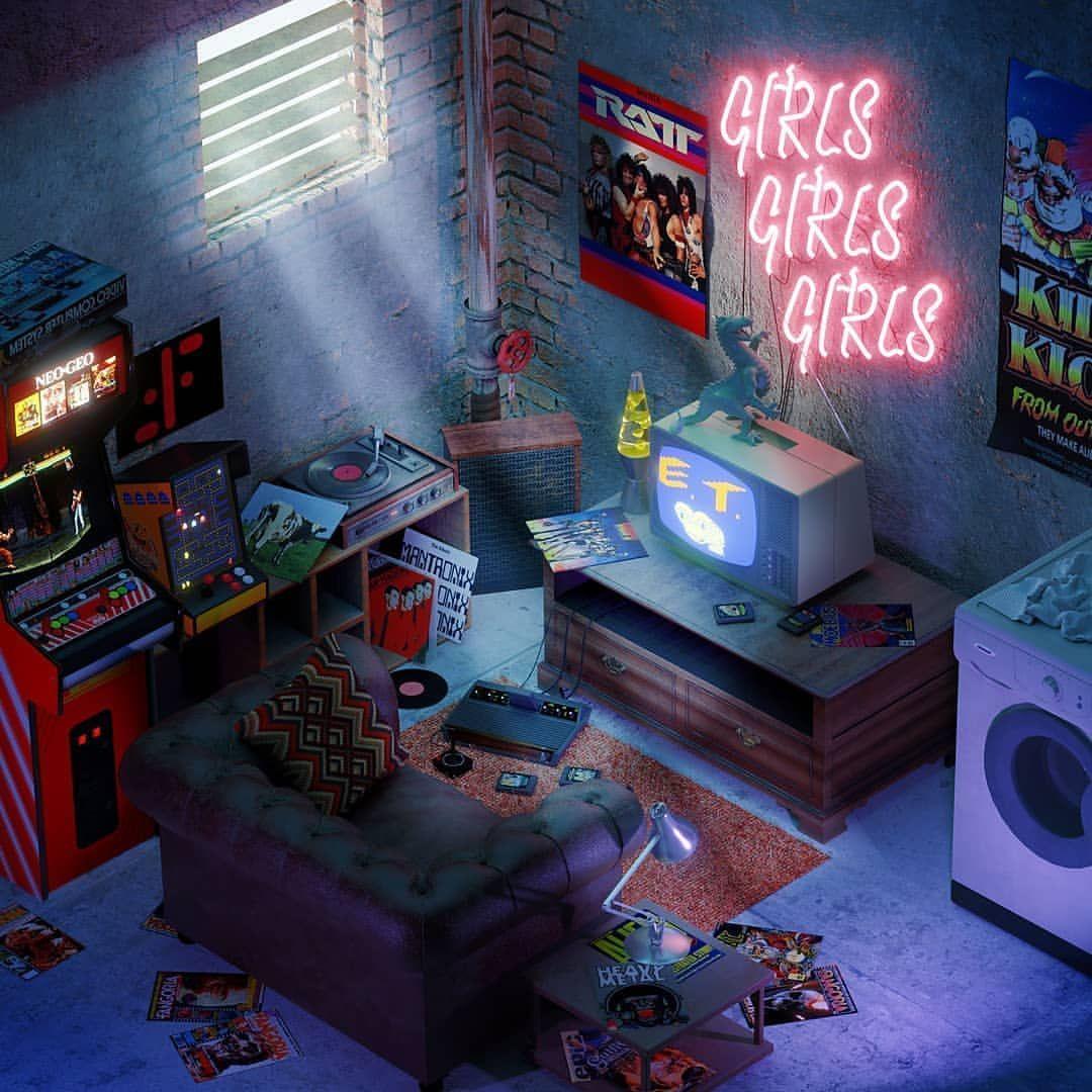 𝟙𝟡𝟠𝟘𝕤 𝕓𝕒𝕤𝕖𝕞𝕖𝕟𝕥 𝕧𝕚𝕓𝕖𝕤 80s Retro Kids Room