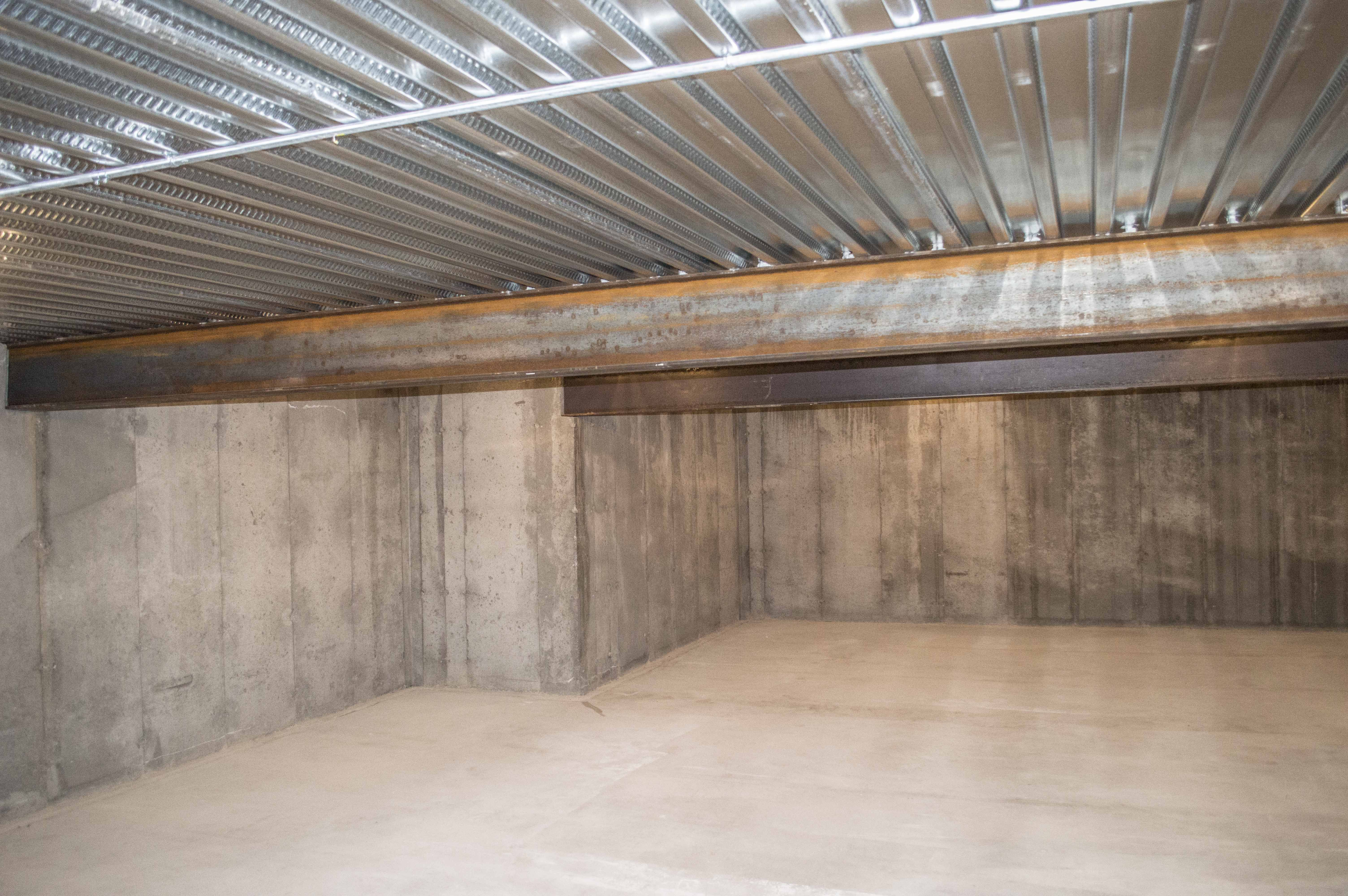 Suspended slab area under the garage is perfect for for Suspended concrete floor