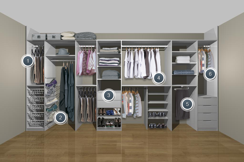 Wardrobe Storage Ideas | Storage | Bedroom cupboards ...
