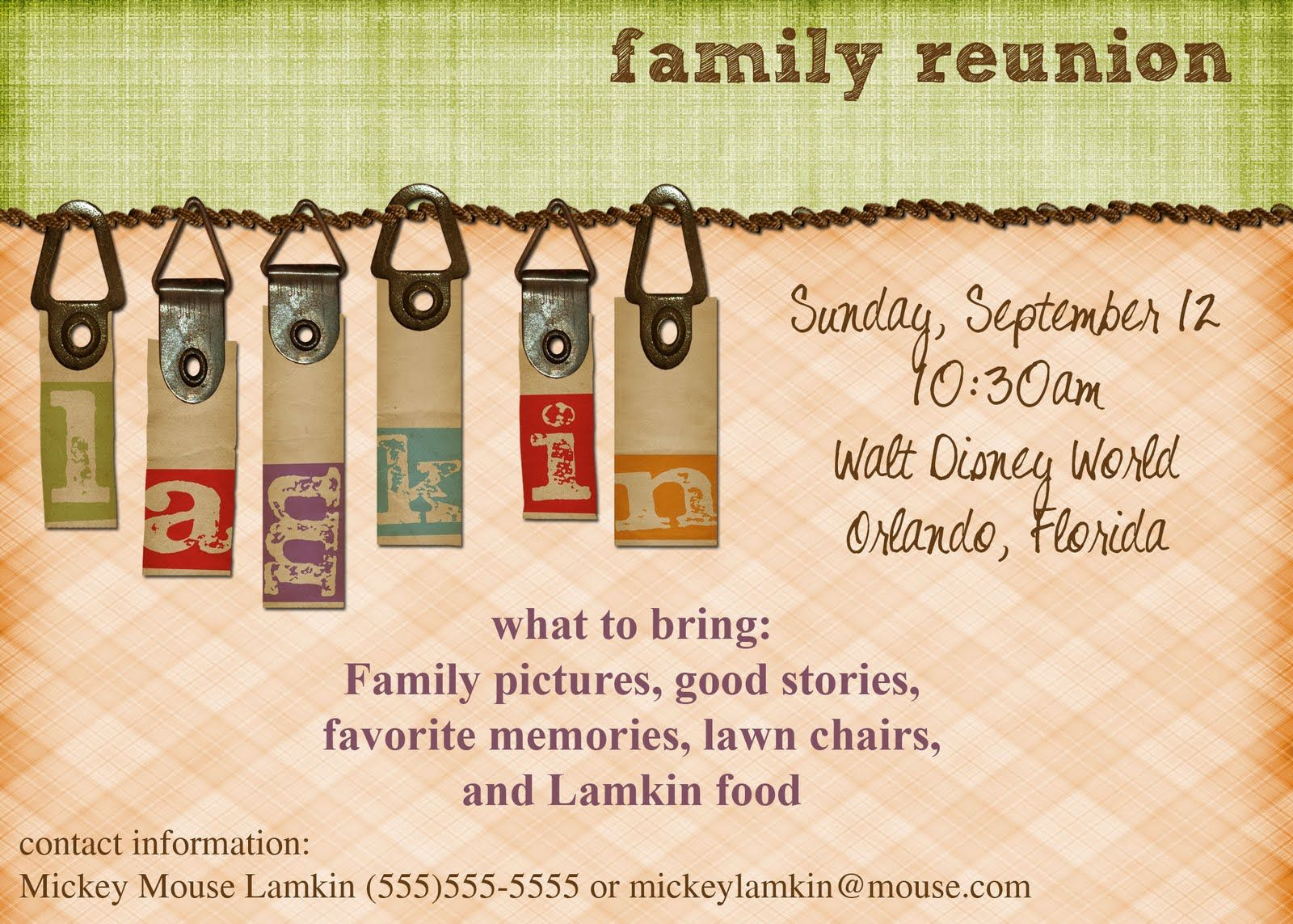 Viewing Gallery For   Family Reunion Invitations  Invitations For Family Reunion