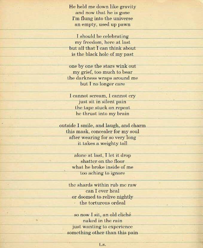 000 Trauma, rape, abuse, grief, poetry, beautiful words