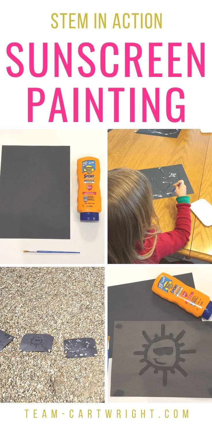 Photo of Sunscreen Painting: STEAM For Kids – Team Cartwright