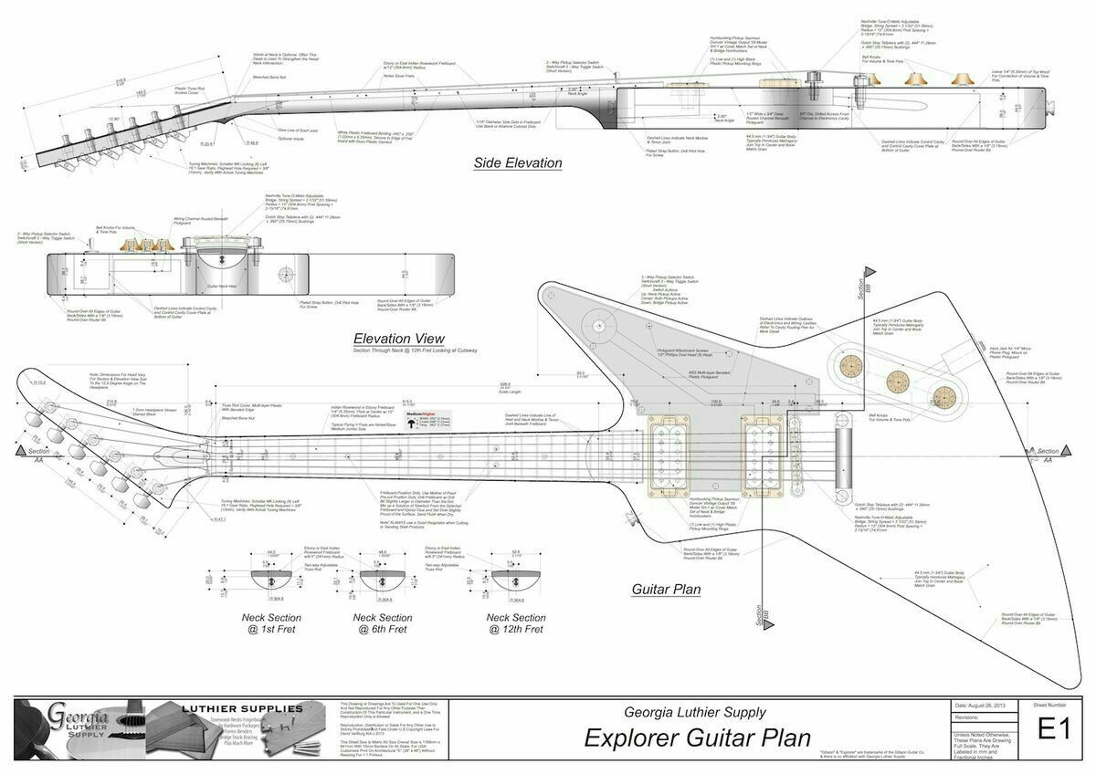 Explorer Schematic With Images Guitar Building Guitar Design