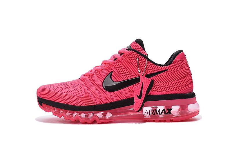 uk availability d91c0 99183 Nike Air Max 2017 3.0 KPU Peach Red Black Women Running Shoes