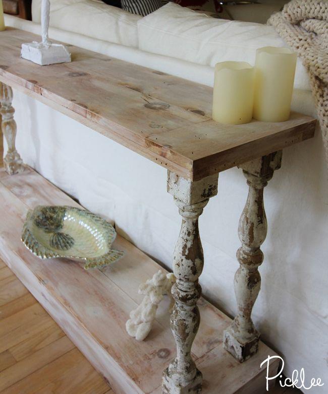 wooden sofa table legs grey leather diy farmhouse tables that won t break the budget do it cottage market