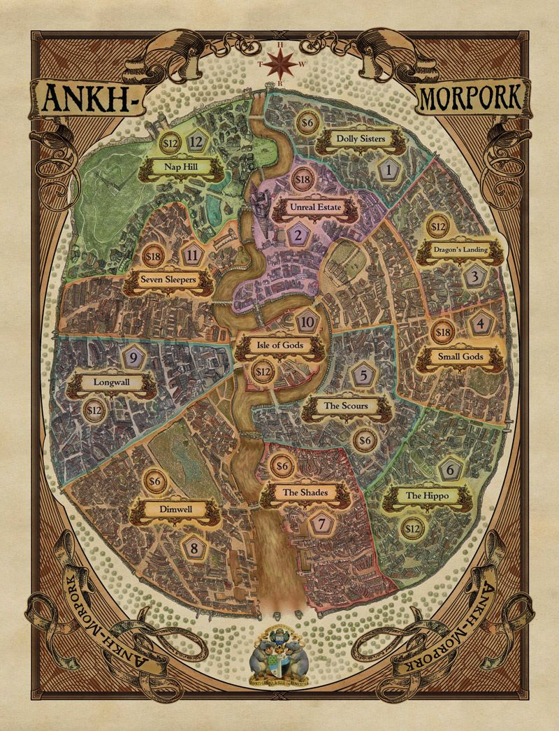 Ankh Morpork Map Sneakily straight forward: A review of the Discworld Ankh Morpork