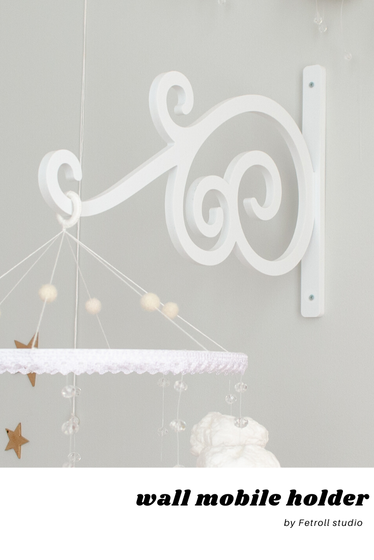 Wall Mounted Baby Mobile Arm White Wall Baby Mobile Hanger Etsy Baby Mobile Arm Mobile Hanger Mobile Arm