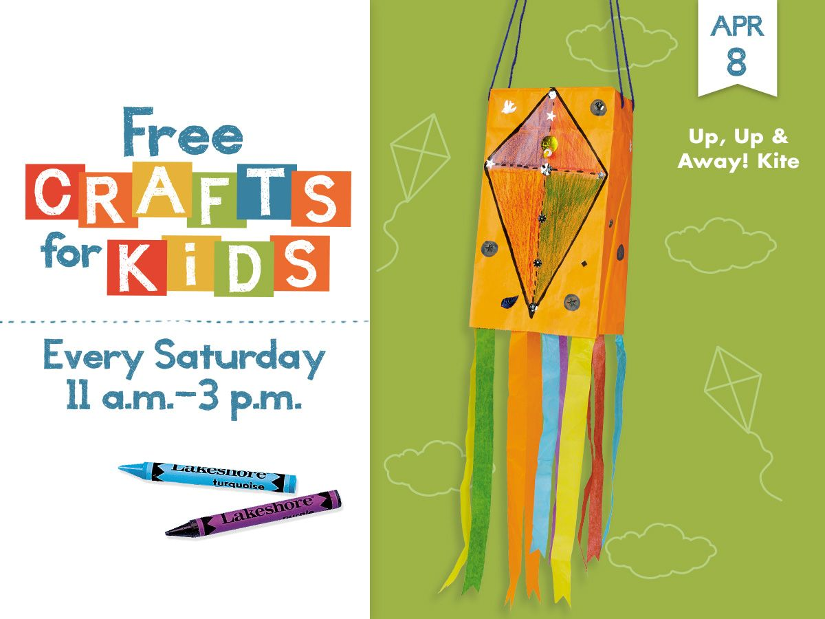 Freecraftsforkids At All Lakeshore Stores Every Saturday