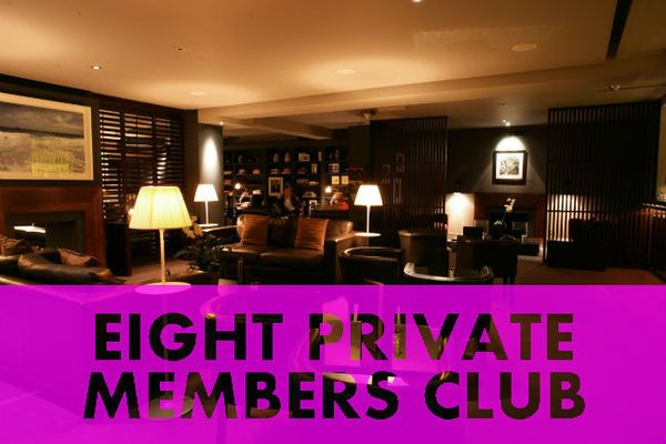 Private Soiree at Eight Members Club with welcome drink and terrace