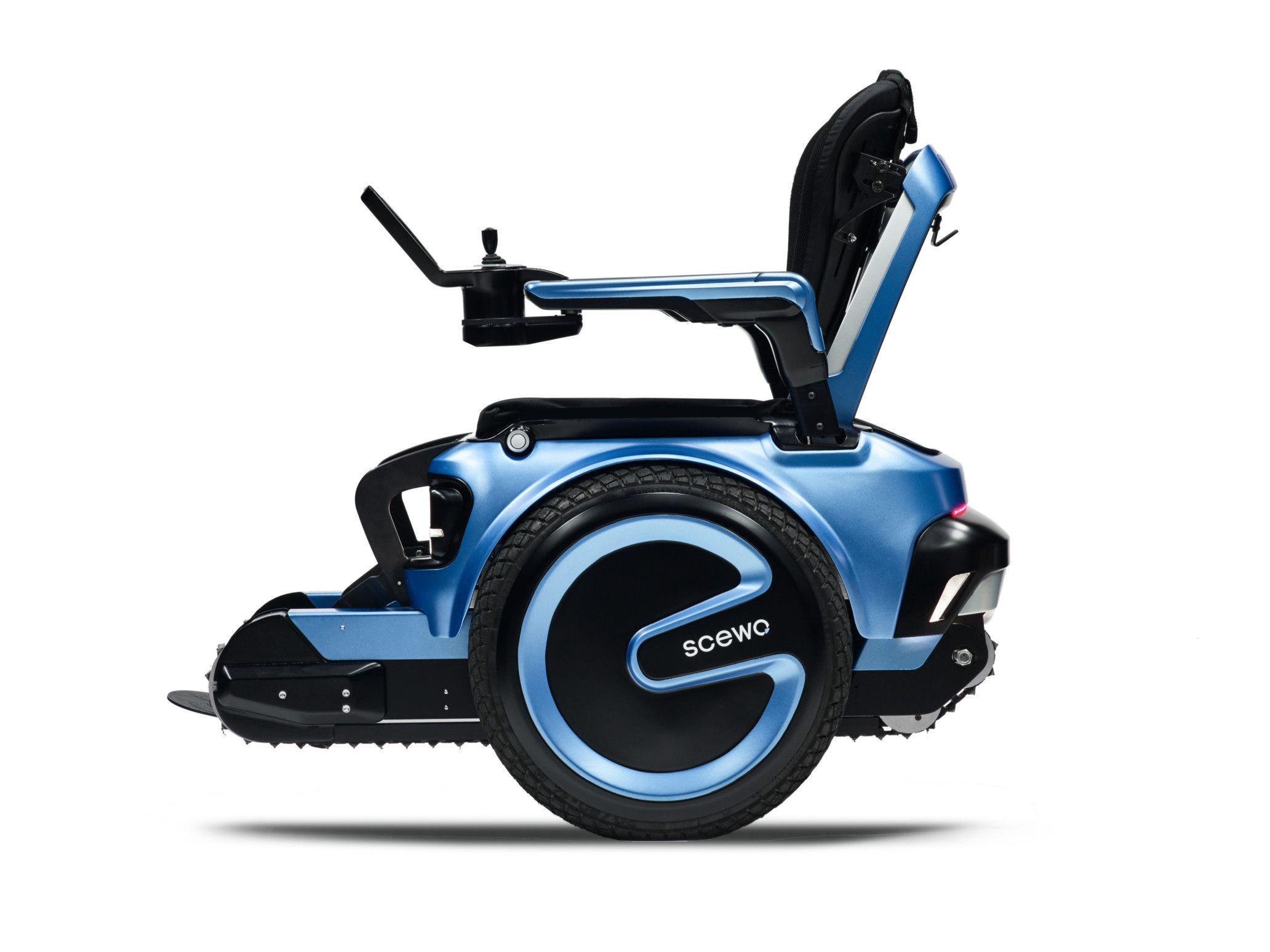 An innovative new wheelchair that has a near zero turning radius