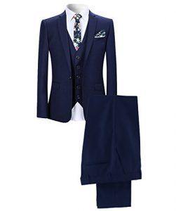 YOUTHUP Slim Fit 3 Teilig Business Hochzeit Herren Anzug Smoking -
