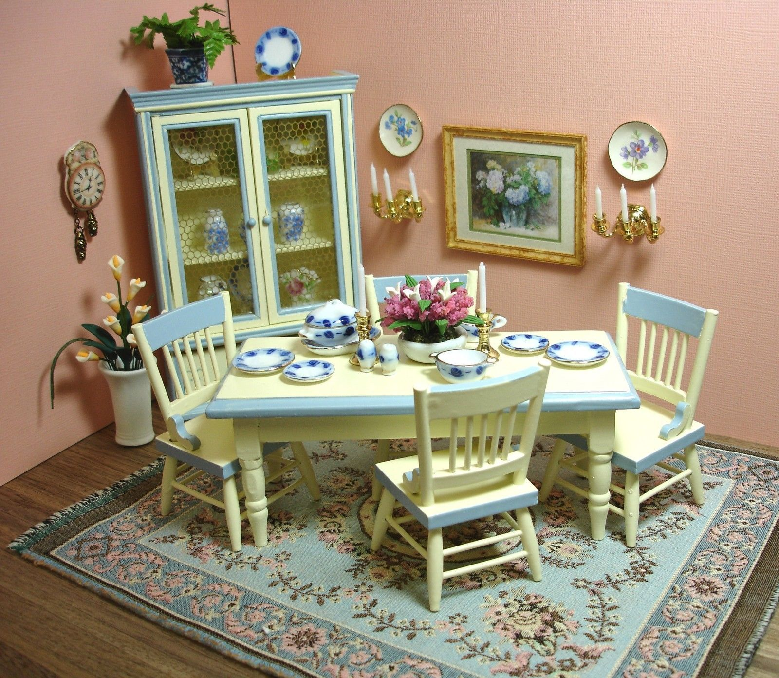 Mini Kitchen Room Box: Details About 1980s Mini Miniature Dollhouse Furniture