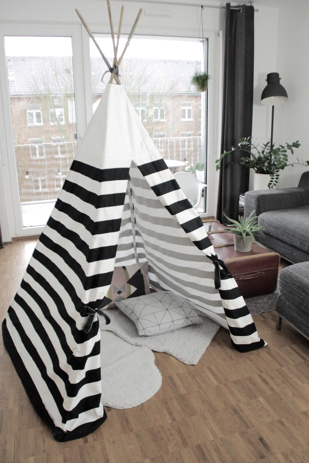 diy tipi anleitung zum selber n hen auf dem blog pinterest. Black Bedroom Furniture Sets. Home Design Ideas