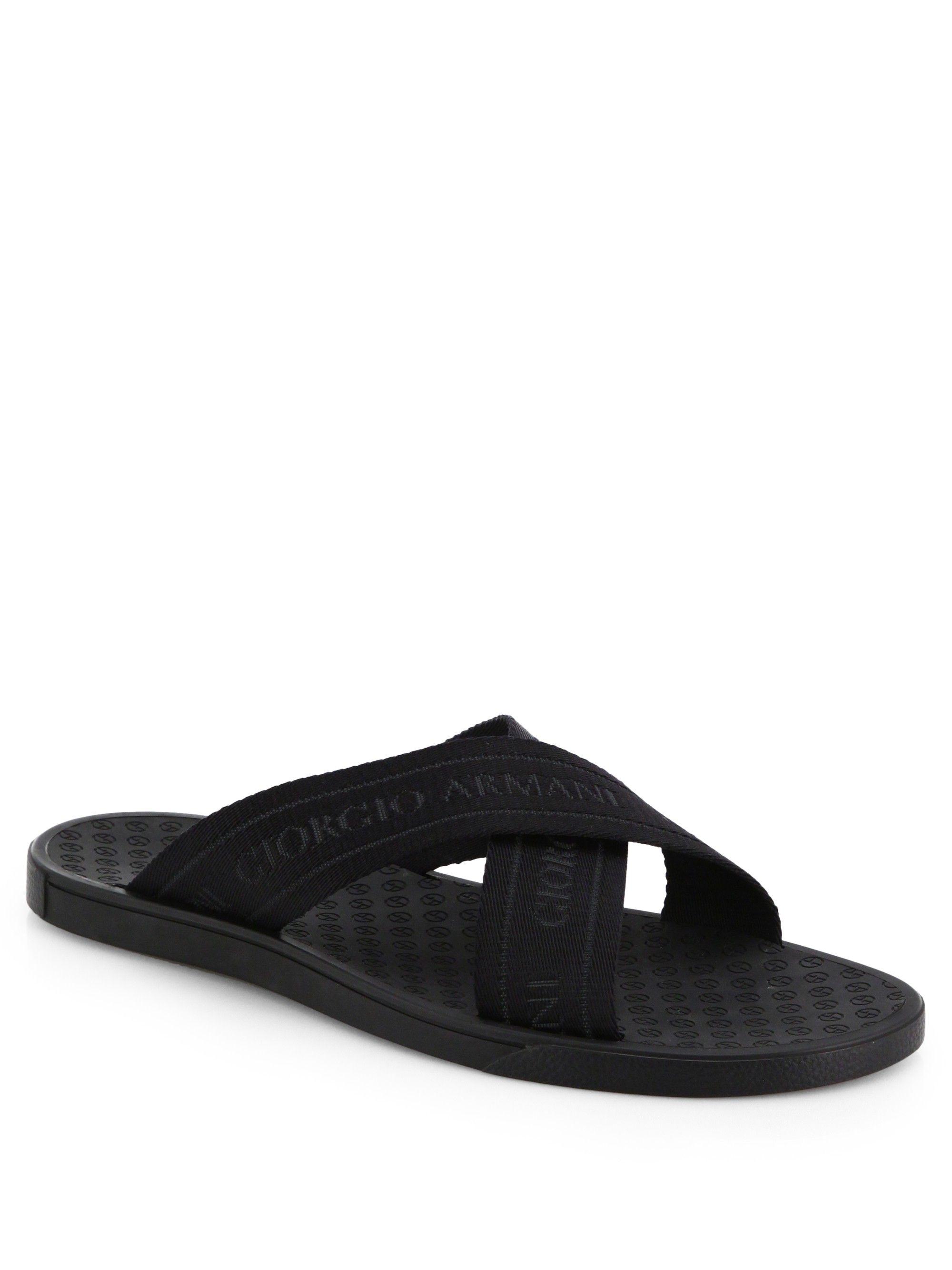 eb1fd063c GIORGIO ARMANI Rubber Criss Cross Sandals.  giorgioarmani  shoes ...