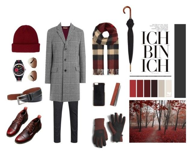 """""""Ich Bin Ich!"""" by esenyav on Polyvore featuring Burberry, HUGO, Ferrari, Ray-Ban, Perry Ellis, London Undercover, The North Face, River Island, ADOPTED и men's fashion"""