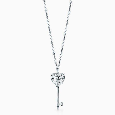 Tiffany Keys Enchant Heart Key Pendant In Sterling Silver Medium