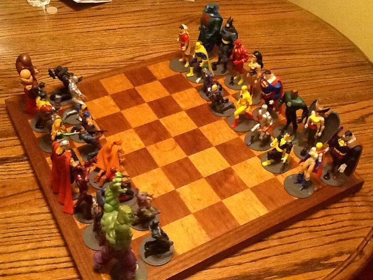 Marvel vs DC chess game  | Craft Project Ideas | Pinterest