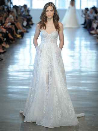 see berta wedding dresses from bridal fashion week with