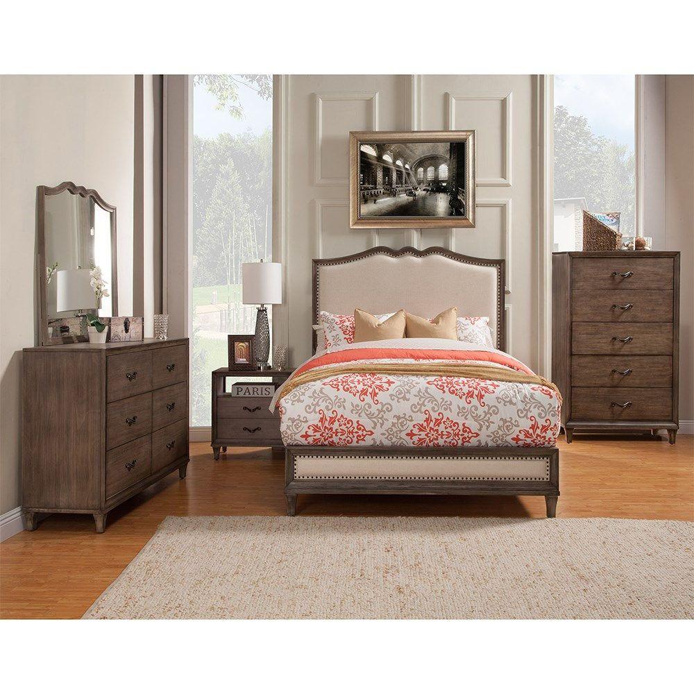 Alpine Furniture 150007EK Charleston Standard King Panel