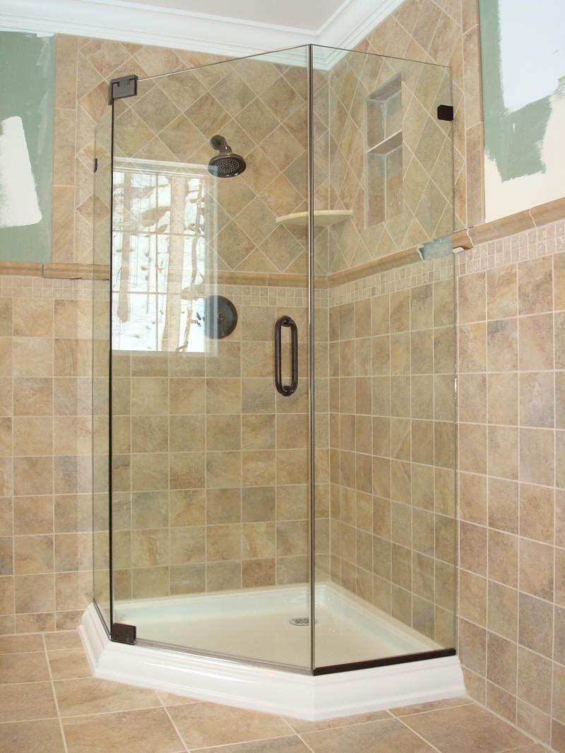 Bernar Glass Inc Services Shower Tile Corner Shower Shower
