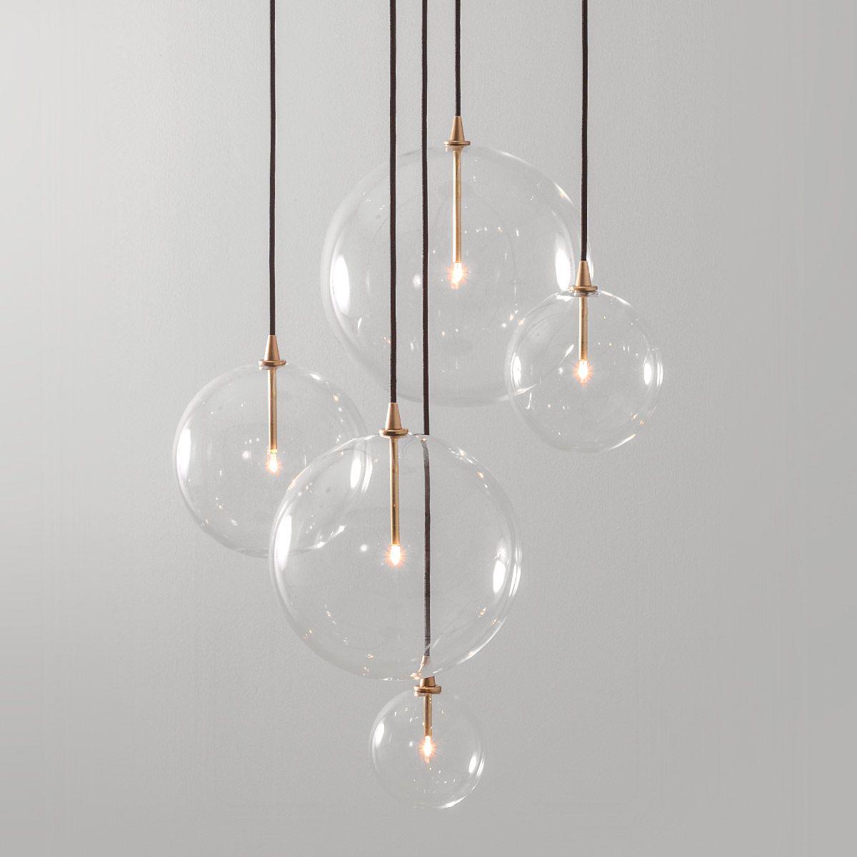 Elegante Moderne Glaskugel Pendelleuchte Borosilikatglas Mit O 15 Bis 35 Cm Von Schwung Home Die Leuchte Ist Lampen Treppenhaus Modernes Glas Pendelleuchte