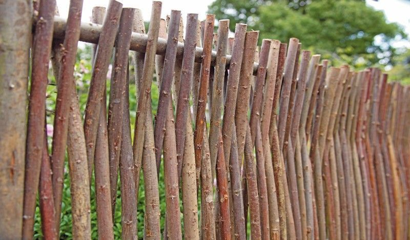 Rustikale Gartenzäune haselnuss gartenzaun mit format 180 x 80 cm heide