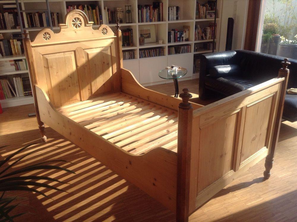 bett altes bauernbett 100x190 antik holzbett vollholz kinderzimmer pinterest bett. Black Bedroom Furniture Sets. Home Design Ideas