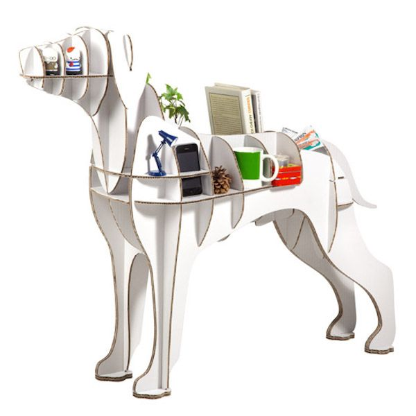 Easy Assemble Diy Metal Garage Or Shop: Fun, Easy To Assemble, And Recylable Dog-Shaped Shelves