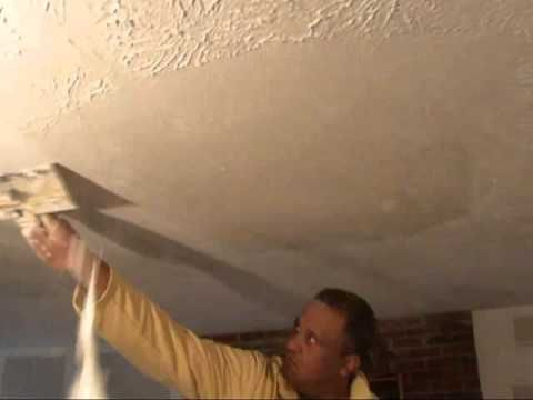 How To Remove Textured Wall Amp Ceilings Water Damage