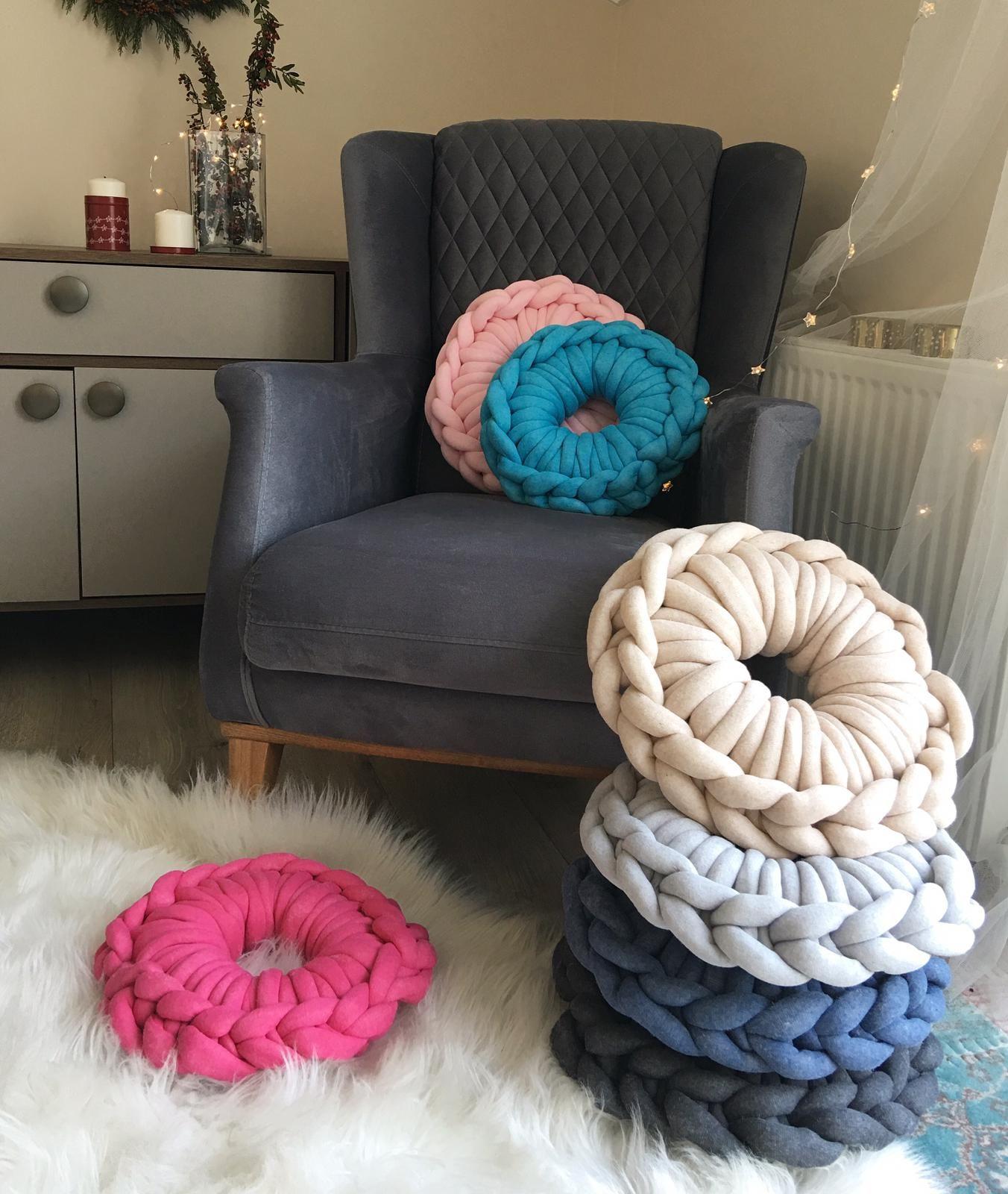 Cotton chunky cushion raspery in 2020 giant yarn wool