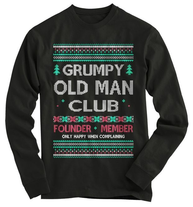 Gift for Dad Christmas Officially A Grumpy Old Git Mens Funny T Shirt