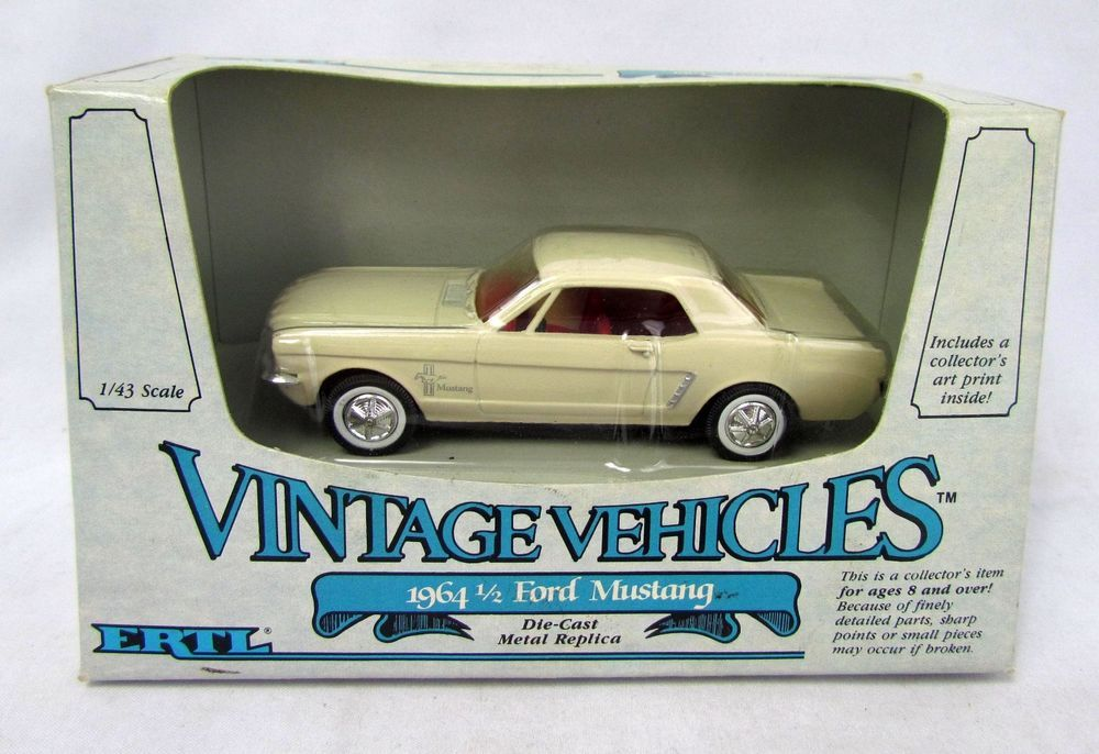 Ertl 1964 1 2 Ford Mustang Vintage Vehicles 1 43 Scale Diecast Car