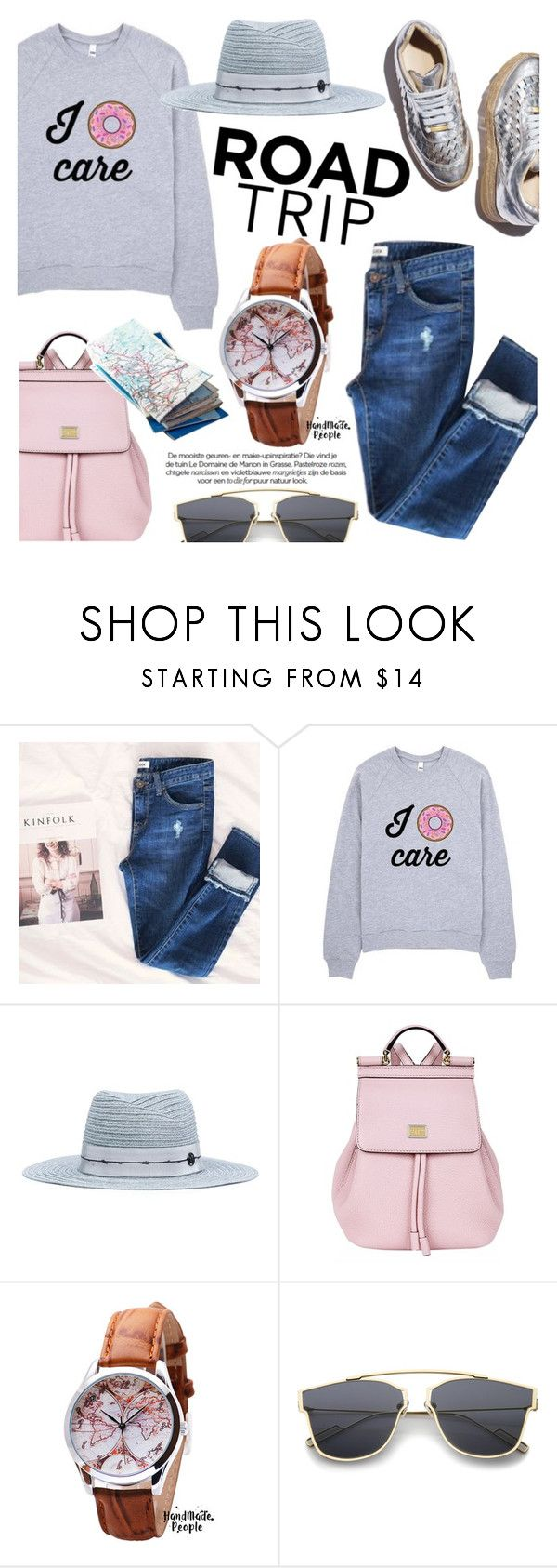 """""""Summer Road Trip Essentials/Handmade People"""" by helenevlacho ❤ liked on Polyvore featuring Hotping, Maison Margiela, Dolce&Gabbana, vintage, roadtrip, contestentry and handmadepeople"""