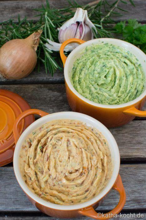 Kräuterbutter und Tomatenbutter - Rezepte - Dips & Saucen -