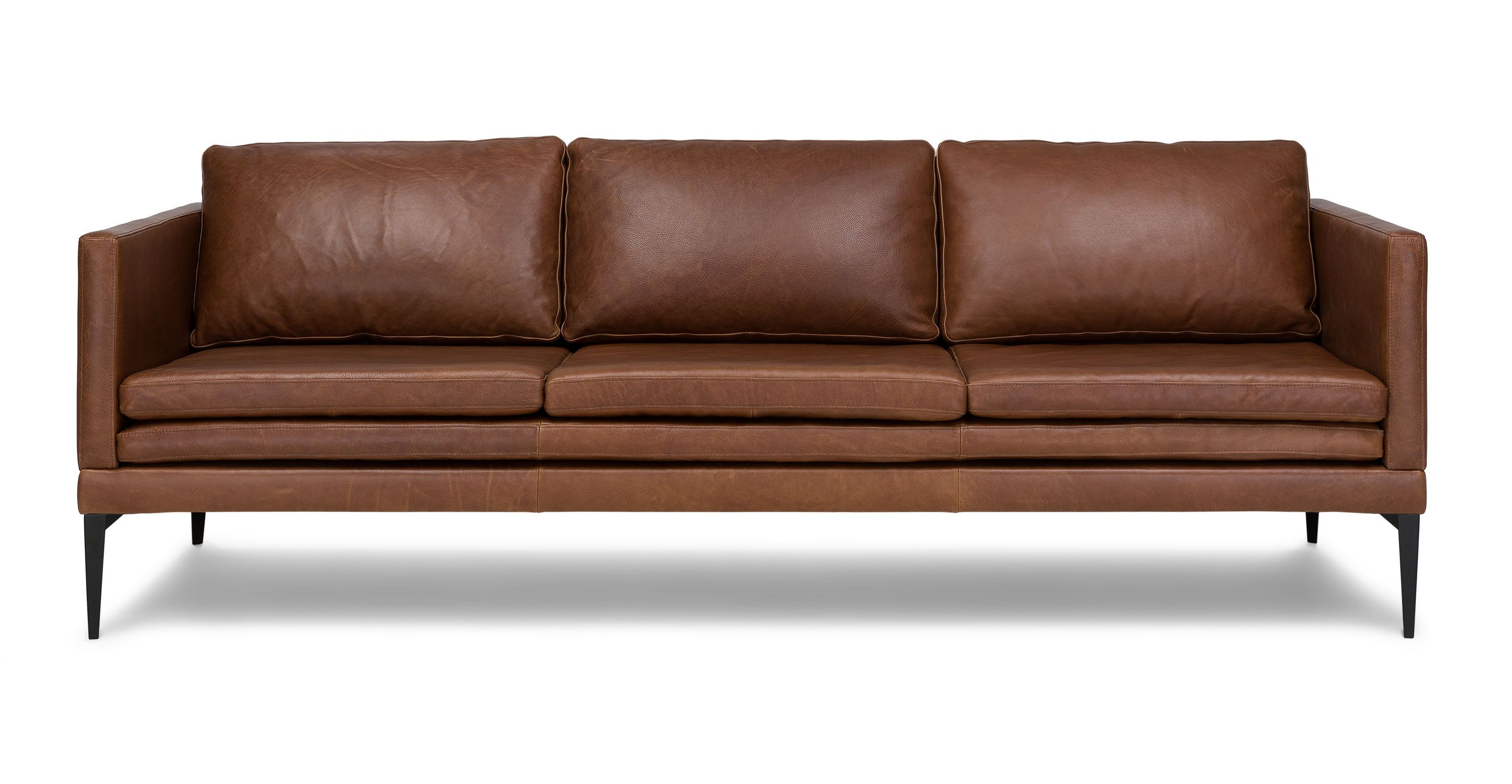 Best Triplo Taos Canyon Brown Sofa Sofas Article Modern 400 x 300