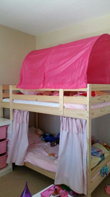 Mydal Bed With Kura Canopy And Curtains Room Makeover Bunk Beds