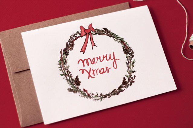 merry xmas greetings card