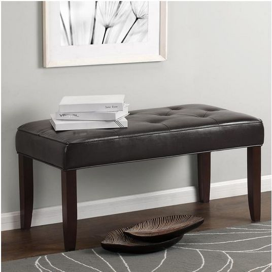 Marvelous This Bench Looks And Feels Elegant. I Like The Simple Design And How Its  Tufted