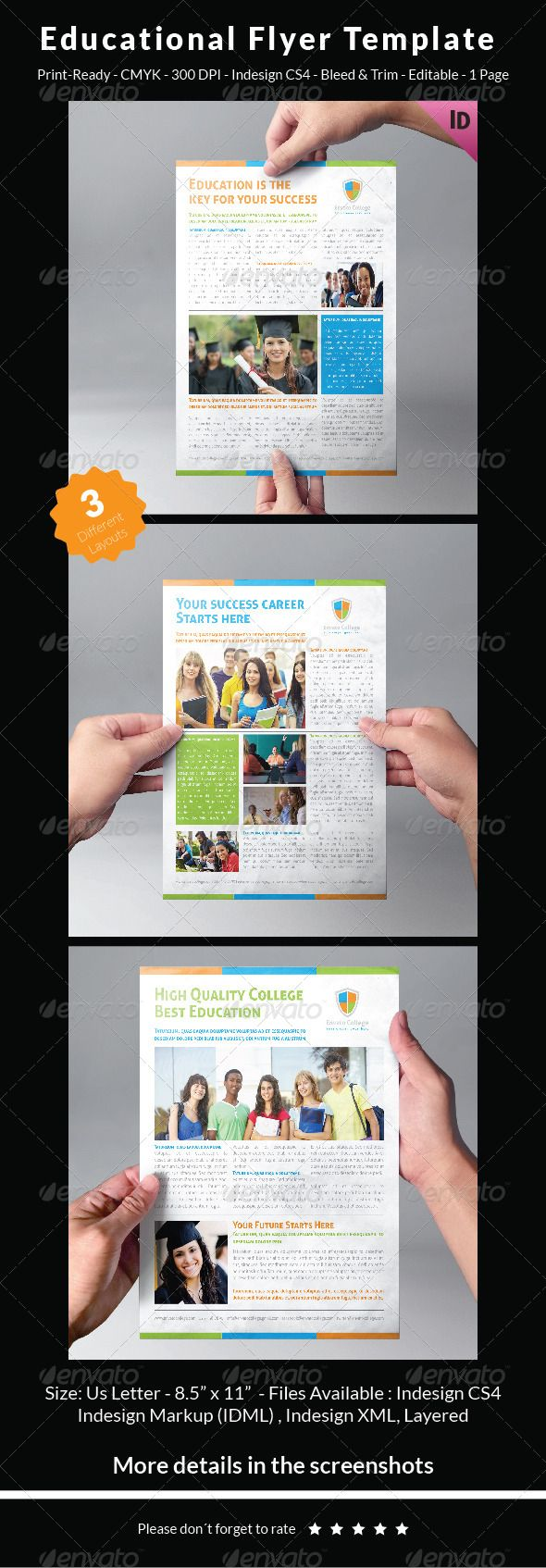 Educational Flyer Template | Flyer template, Template and Font logo